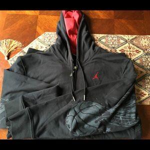 Nike Black and red Hoodie with Jordan design